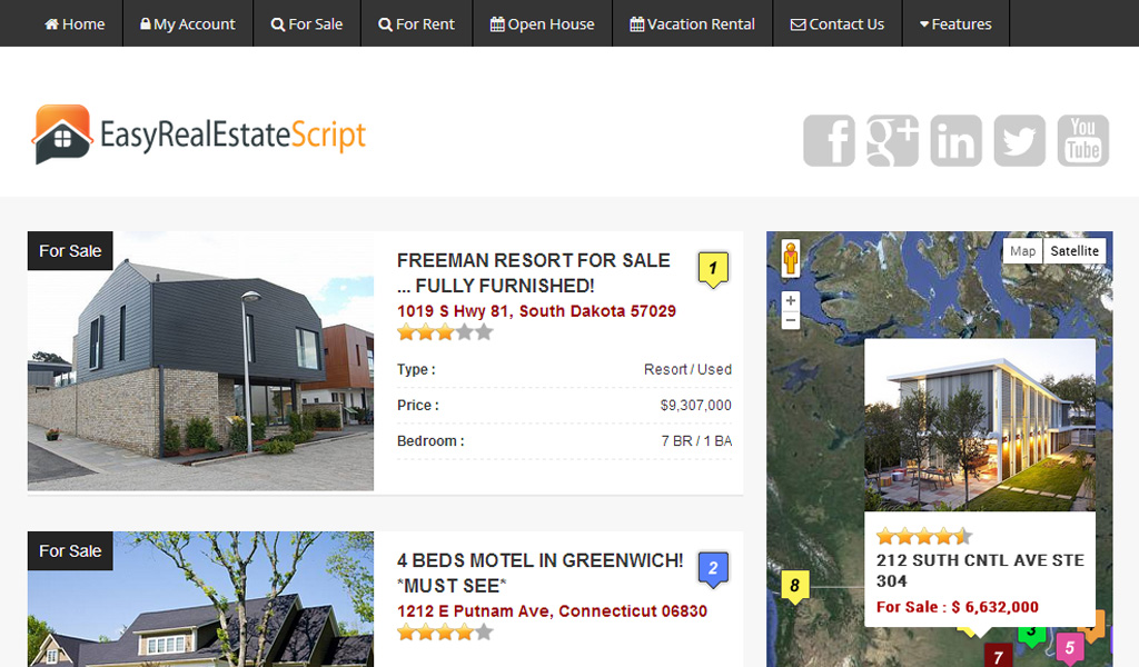 Php real estate script realty script fsbo script and for Dutch real estate websites